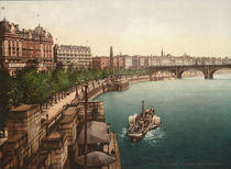 London, Victoria Embankment / Photochrom von AKG  Images