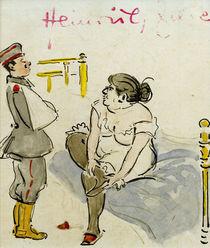 H.Zille, Verwundeter Soldat und Nutte by AKG  Images