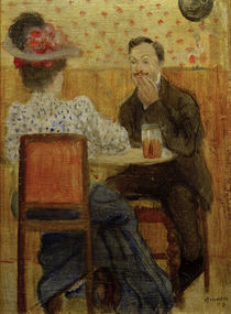A.Macke, Paar am Biertisch, 1907 by AKG  Images