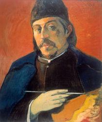 Gauguin/Selbstportraet mit Palette von AKG  Images