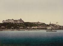 Budapest, Burg / Photochrom um 1900 von AKG  Images