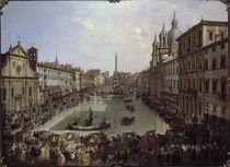 Rom, Piazza Navona unter Wasser / Pannin von AKG  Images