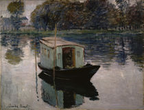 Claude Monet, Le bateau atelier by AKG  Images