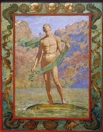 H. Thoma, Juengling auf dem Fisch. von AKG  Images