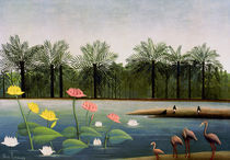 H.Rousseau, Die Flamingos by AKG  Images