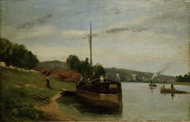 Camille Pissarro,Lastkaehne auf der Seine by AKG  Images