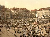 Dresden, Altmarkt / Photochrom von AKG  Images