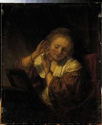 Rembrandt, Frau mit Ohrringen by AKG  Images