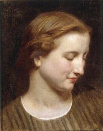 W.A.Bouguereau, Kopfstudie Frau von AKG  Images