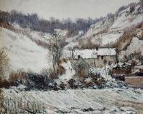 C.Monet, Schneestimmung bei Falaise von AKG  Images