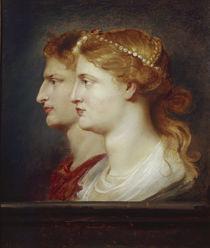 Tiberius und Agrippina/Portrait/Rubens von AKG  Images
