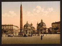 Rom, Piazza del Popolo / Photochrom von AKG  Images