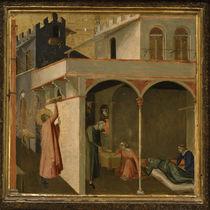 A.Lorenzetti, Nikolaus wirft Goldkugeln von AKG  Images