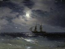 I.K.Aiwasowski, Segelschiff bei Mondl. von AKG  Images