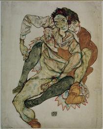 Egon Schiele, Sitzendes Paar von AKG  Images