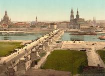 Dresden, Augustusbruecke / Photochrom von AKG  Images