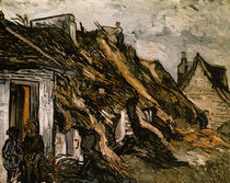 V.van Gogh, Strohgedeckte Huetten Chapon. by AKG  Images