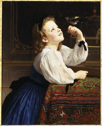 W.A.Bouguereau, Der geliebte Vogel by AKG  Images
