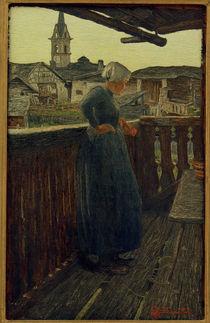 Giovanni Segantini, Auf dem Balkon by AKG  Images