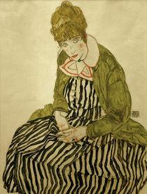 Egon Schiele, Edith Schiele in gestreift von AKG  Images