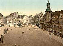 Leipzig, Markt mit Rathaus / Photochrom by AKG  Images
