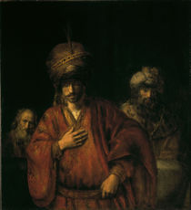 Rembrandt, Haman in Ungnade by AKG  Images