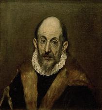 El Greco, Aelterer Mann (Selbstbildnis) by AKG  Images