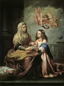 B.E.Murillo, Erziehung Jungfrau Maria by AKG  Images