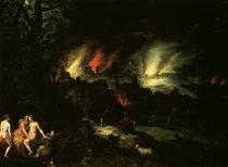 J.Brueghel d.Ae., Sodom und Gomorrha by AKG  Images