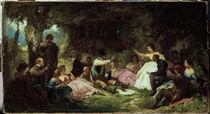 C.Spitzweg, Das Picknick/ um 1864 by AKG  Images