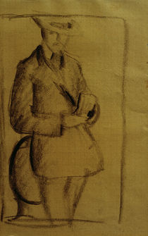 A.Macke, Selbstbildnis / Kohlezeichnung von AKG  Images