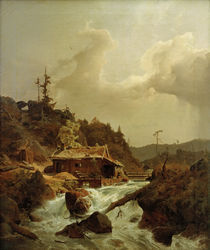 A.Achenbach, Norwegische Landschaft by AKG  Images