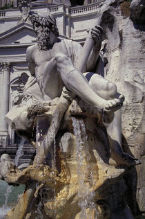 Rom, Fontana dei Fiumi, Ganges / Foto von AKG  Images