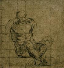 Tintoretto, Sitzender maennlicher Akt von AKG  Images