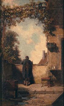 Spitzweg/Alter Herr auf der Terrasse von AKG  Images