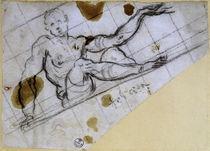 J.Tintoretto, Studie sitzender Mann by AKG  Images