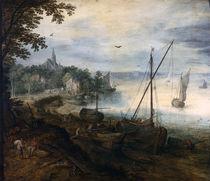 J.Brueghel d.Ae./ Flusslandsch.Holzhacker by AKG  Images