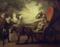 Fatouville, Arlequin / Gem.v.Watteau by AKG  Images