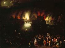 J.Brueghel d.Ae., Das brennende Troja von AKG  Images