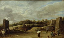 David Teniers d.J., Beim Bogenschiessen by AKG  Images