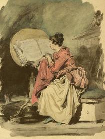 J.H.Fragonard, Lesendes Maedchen by AKG  Images