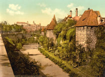 Nuernberg,Stadtmauer u. Burg /Photochrom von AKG  Images