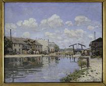 A.Sisley, Kanal Saint Martin by AKG  Images
