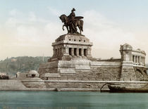 Koblenz, Deutsches Eck, Wilhelm I. by AKG  Images