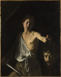 Caravaggio, David mit Haupt des Goliath by AKG  Images