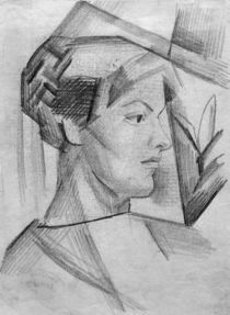 A.Macke,Portraetzeichnung Elisabeth Macke by AKG  Images