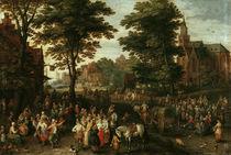 Jan Bruegel d.Ae. / Die Dorfkirmes von AKG  Images