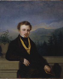 G.F.Kersting, Bildnis Herr mit Buch/1830 von AKG  Images