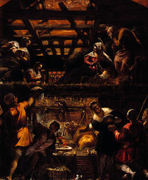 Tintoretto, Anbetung der Hirten von AKG  Images