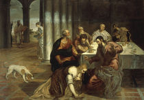 J.Tintoretto, Gastmahl im Hause Simons von AKG  Images